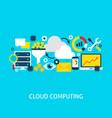 cloud computing flat concept vector image vector image