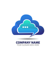 Cloud Internet Logo Icon Template vector image vector image