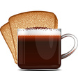 Coffee and toast vector image vector image