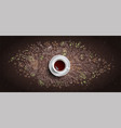 coffee chalk concept on black board vector image vector image