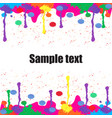 colorful paint background for text vector image