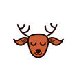 cute face deer animal cartoon icon vector image