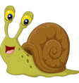 cute snail cartoon isolated on white background vector image vector image