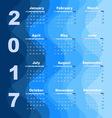 Design wave 2017 calendar template vector image vector image