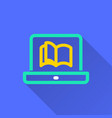 e-learning education icon vector image