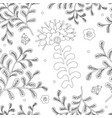 elegance seamless pattern with flowers for vector image vector image