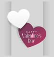 elegant two hearts in gray background vector image vector image