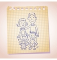 family note paper sketch vector image vector image