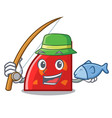 fishing quadrant mascot cartoon style vector image vector image
