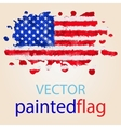 Flag of USA painted with watercolors vector image vector image