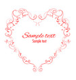 floral heart graphic element vector image vector image