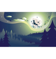 Flying Witch in the Woods vector image vector image