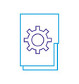 folder document with gear vector image