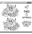 game of differences coloring book vector image vector image