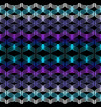 geometric neon waves seamless pattern vector image