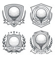 golf ball crest emblem set vector image vector image