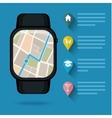 Gps concept in flat style Smart watch vector image