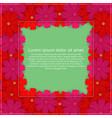 greeting card with colored flowers floral vector image vector image