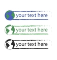 Grunge graffiti text boxes with earth icon vector image vector image