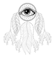 Hand drawn zentangle bohemian Dreamcatcher with vector image