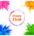 happy holi background for color festival of india vector image vector image