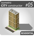 Isometric city constructor - 05 vector image vector image