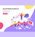 landing page template reach social media vector image vector image