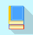 literature icon flat style vector image vector image