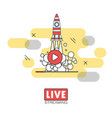 live streaming concept vector image