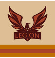 logo with a picture of an eagle Legion vector image vector image
