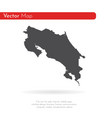 map costa rica isolated vector image vector image