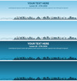 memphis skyline event banner vector image vector image