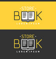 modern line logo of the bookstore vector image vector image