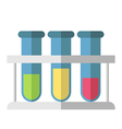 Multicolor test tubes isolated vector image