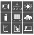 network and mobile connections icons vector image
