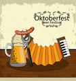 oktober beer festival vector image