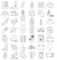 outline icons of energetics contour icon line icon vector image