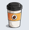 paper coffee cup coffee and beverage cup vector image