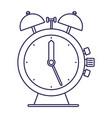 purple line contour of antique alarm clock vector image vector image