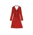 red woman elegant coat vector image