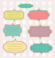retro paper label set for your text input vector image