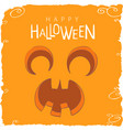 screaming pumpkin face for halloween vector image vector image