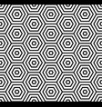 seamless pattern with black white hexagons and vector image vector image