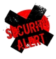Security Alert rubber stamp vector image vector image