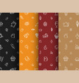 set of backgrounds of black orange red and brown vector image vector image