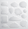Set of glass speech bubbles clouds and icons vector image vector image
