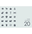 Set of spamming icons vector image vector image