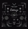 set vintage geometric shape elements linear vector image vector image