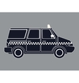 Silhouette taxi van car side view vector image
