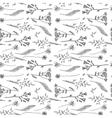 sketch of wildflower vector image vector image